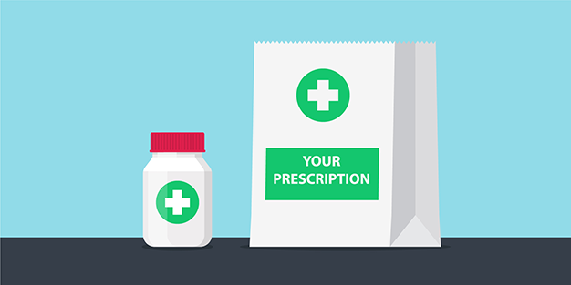 Repeat prescriptions button linked to online prescription ordering service on the NHS App
